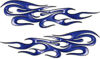 Traditional Style Flame Graphics with Silver Outline in Blue