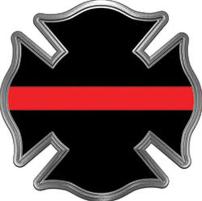 Firefighter Thin Red Line Brotherhood Decal