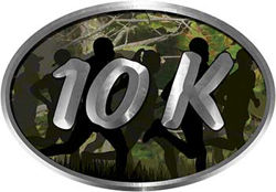 Oval Marathon Running Decal 10K in Camouflage with Runners