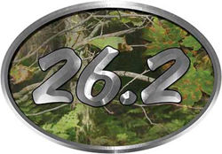 Oval Marathon Running Decal 26.2 in Camouflage