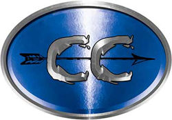 Oval Cross Country Distance Running Decal in Blue