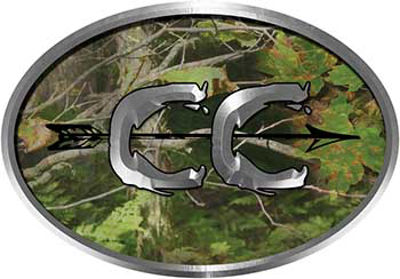 Oval Cross Country Distance Running Decal in Camouflage