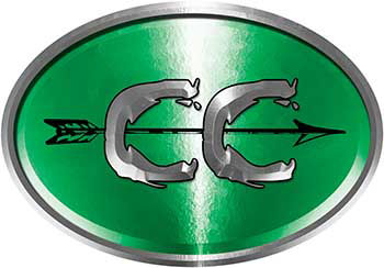 Oval Cross Country Distance Running Decal in Green