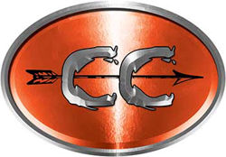 Oval Cross Country Distance Running Decal in Orange