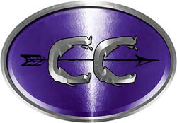 Oval Cross Country Distance Running Decal in Purple