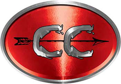 Oval Cross Country Distance Running Decal in Red