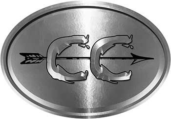 Oval Cross Country Distance Running Decal in Silver