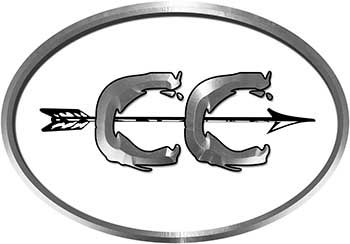 Oval Cross Country Distance Running Decal in White