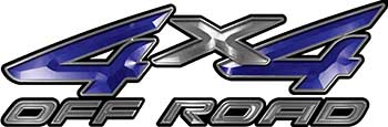 4x4 Off Road ATV Truck or SUV Decals in Blue