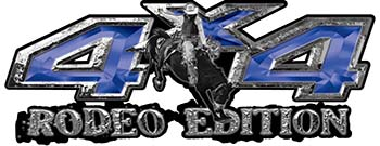 Rodeo Edition Bucking Bronco 4x4 ATV Truck or SUV Decals in Blue