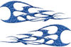 Twisted Tribal Flames Motorcycle Tank Decal Kit in Blue