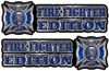 Maltese Cross Fire Fighter Edition Decals in Blue