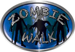 Oval Zombie Walk in Blue