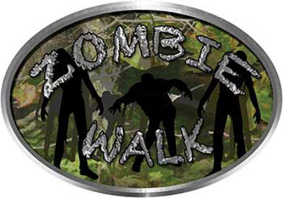 Oval Zombie Walk in Camouflage