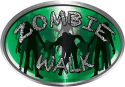 Oval Zombie Walk in Green