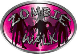 Oval Zombie Walk in Pink