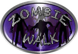 Oval Zombie Walk in Purple