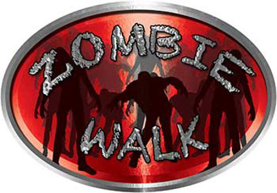 Oval Zombie Walk in Red