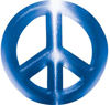 Peace Symbol Decal in Blue