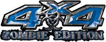 Zombie Edition 4x4 Decals in Blue