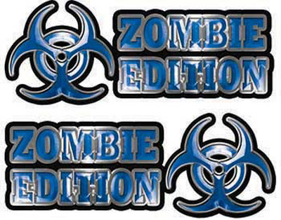 Zombie Edition Decals in Blue