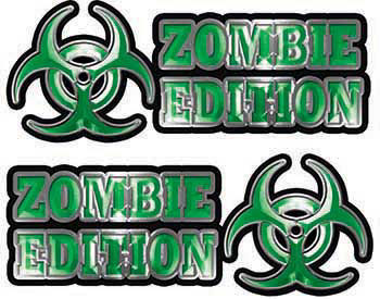 Zombie Edition Decals in Green
