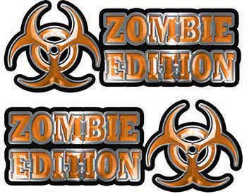 Zombie Edition Decals in Orange