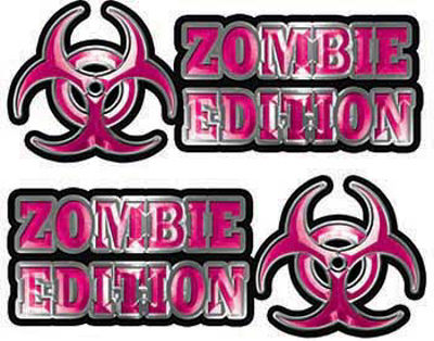 Zombie Edition Decals in Pink