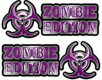Zombie Edition Decals in Purple