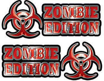 Zombie Edition Decals in Red