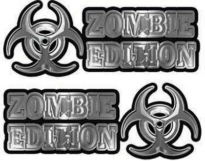 Zombie Edition Decals in Silver