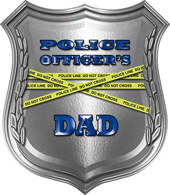 Police Officers Dad Police Law Enforcement Decal