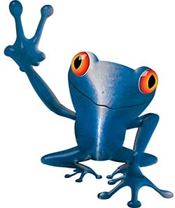 Cool Peace Frog Decal in Blue