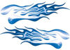 Extreme Flame Decals in Blue