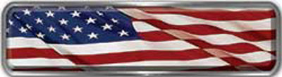 Fire Fighter, EMS, Rescue Reflective Helmet Marker Decal with American Flag