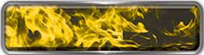Fire Fighter, EMS, Rescue Reflective Helmet Marker Decal in Yellow Inferno