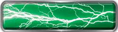 Fire Fighter, EMS, Rescue Reflective Helmet Marker Decal in Lightning Green