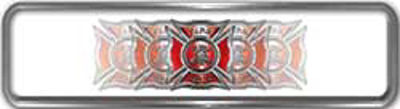 Fire Fighter, EMS, Rescue Reflective Helmet Marker Decal with Red Maltese Cross