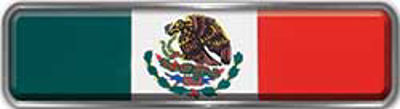 Fire Fighter, EMS, Rescue Reflective Helmet Marker Decal with Mexican Flag
