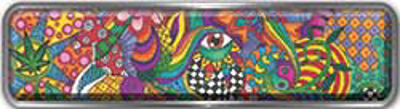 Fire Fighter, EMS, Rescue Reflective Helmet Marker Decal in Psychedelic Art