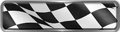 Fire Fighter, EMS, Rescue Reflective Helmet Marker Decal with Racing Checkered Flag