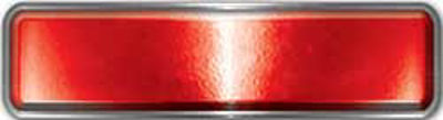 Fire Fighter, EMS, Rescue Reflective Helmet Marker Decal in Red