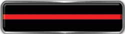 Fire Fighter, EMS, Rescue Reflective Helmet Marker Decal with Thin Red Line
