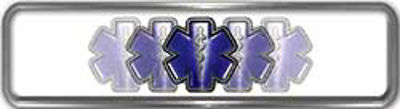 Fire Fighter, EMS, Rescue Reflective Helmet Marker Decal with Blue Star of Life