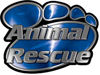 Animal Pet Rescue Paw Decal in Blue