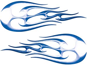 New School Tribal Flame Sticker / Decal Kit in Blue