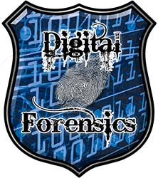 Digital Computer Forensics Police / Law Enforcement Decal in Blue