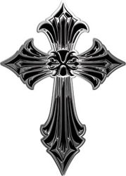 Old Style Cross in Black