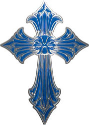Old Style Cross in Blue