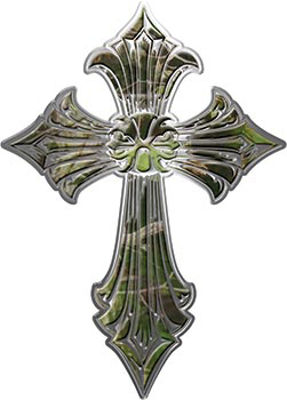 Old Style Cross in Camouflage